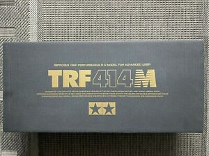 Tamiya TRF414 M 49255 EMPTY BOX ONLY ONLY leerbox Gold Letters Letters in Gold