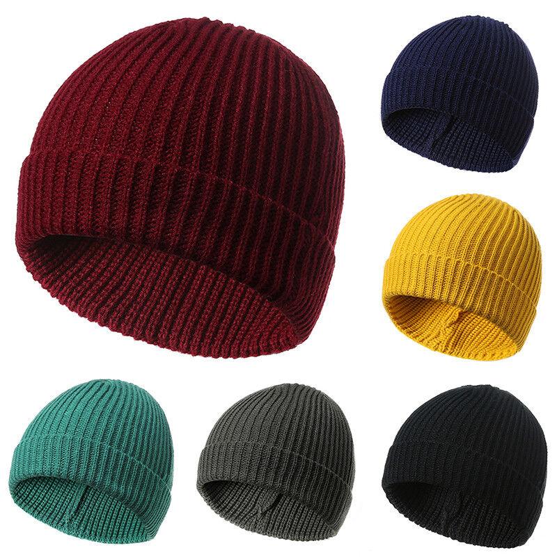 Women Men Hat Beanie Skull Winter Warm Cuff Wool Knitted Knit Ski ArmyUnisex Cap 10