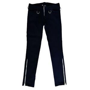 Shirine-Clothing-Punker-Pants-Gothic-Goth-Punk-Mens-Black-Stretch-Jeans-Size-34