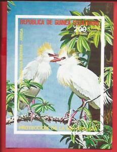 Entlastung Von Hitze Und Sonnenstich 1.ausgabe Kuhreiher Vogel Block 247 Äquatorialguinea