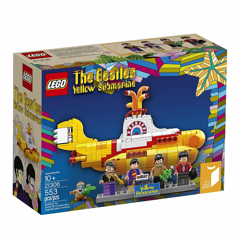NEW  Lego Ideas giallo SUBMARINE The Beatles 4 Mini Figures 21306 553 Piece Set