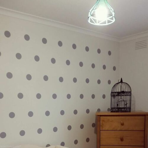 Up to 700 set BULK  Gold or Silver Polka Dots Spots Removable Wall Sticker