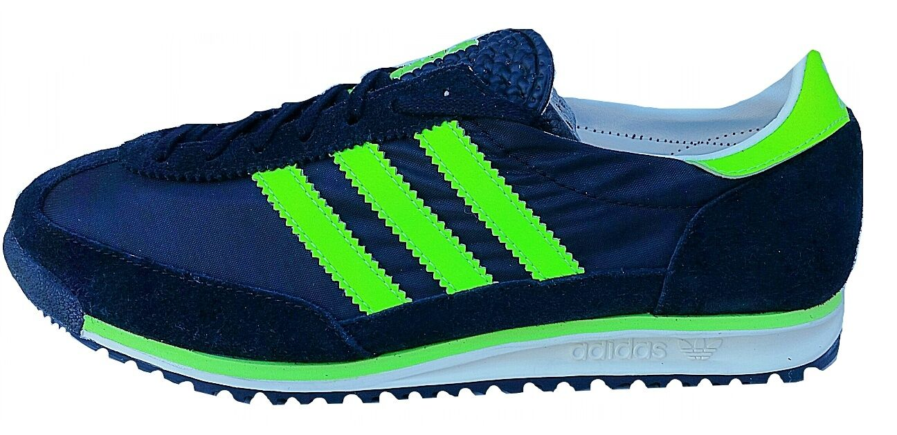 adidas Nizza Hommes vert blanc Canvas & Synthetic Trainers UK - 8 UK Trainers e56631