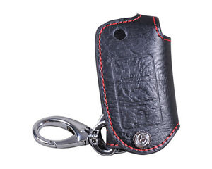 Leather-Remote-Key-Chain-Holder-Case-Fob-Fit-for-VW-POLO-PASSAT-TIGUAN-Beetle-CC