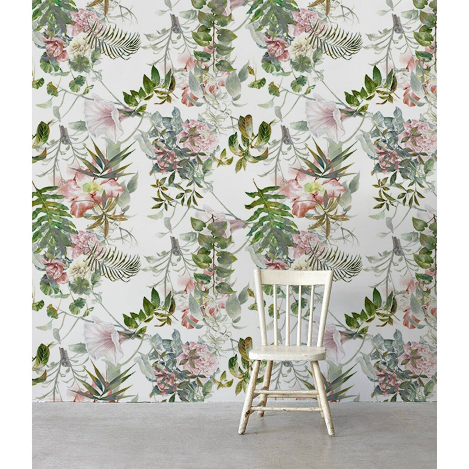 Pastel Delicate Flower Non-Woven wallpaper Traditional wall wall Home Mural