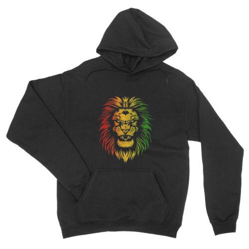 Rasta Lion reggae Mignon Couleurs Cool Drapeau Motif Unisexe Sweat à capuche