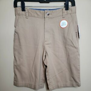 Wonder Nations Boys Flat Front Shorts Size 14 Tan Brown Kid Tough School Uniform