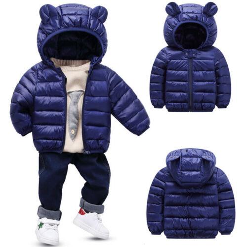 Kids Baby Boys Girls Snowsuit Winter Hooded Warm Puffer Coat Down Jacket Outwear