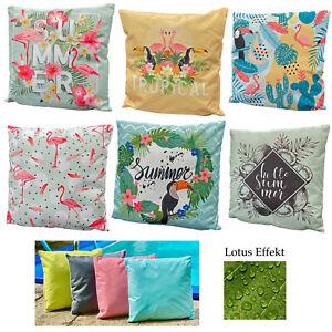 Outdoor Kissen Tropical Lounge Garten Outdoorkissen Flamingo Lotus Effekt Typ688
