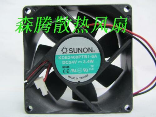 1pc Sunon KDE2408PTB1-6A fan 80*80*25mm 24V 3.4W 2pin #M3551 QL