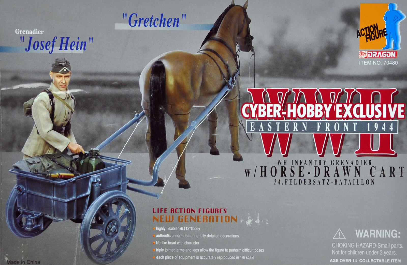 Cyber Hobby Exclusive Dragon WWII German Grenadier w Horse Drawn Cart 70480 1943