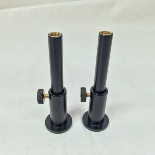 """New Carp Fishing Black Aluminium stage stands Inserts 3/"""" 4/"""" or 5/"""" Bank Sticks"""