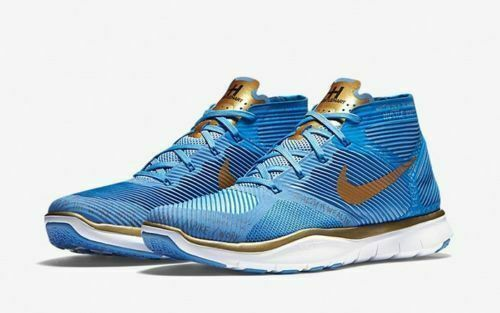 Mens Nike Free Train Instinct Hart 848416-474 Vlr bluee Metallic gold NEW Size 14