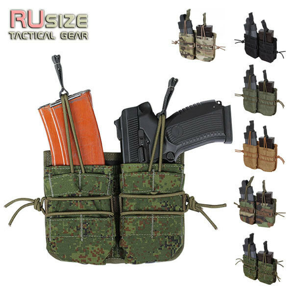 Tactical pouch for 2 magazines STANAG M4 Magpul PMAG Thermold MOLLE PALS Holster