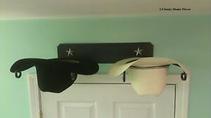 Image is loading American-Made-Cowboy-Hat-Holder-with-Stars-Powder- f0e23ae4f35e
