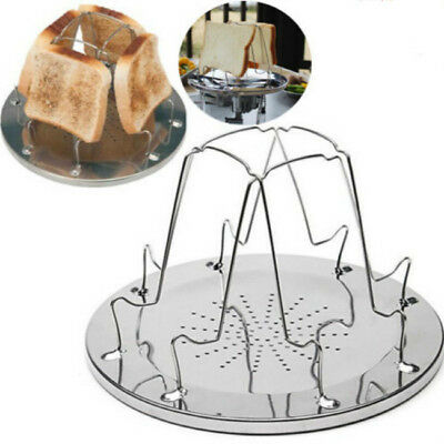 Oztrail Camp Stove Toaster Stainless Steel Camping 4 Slice