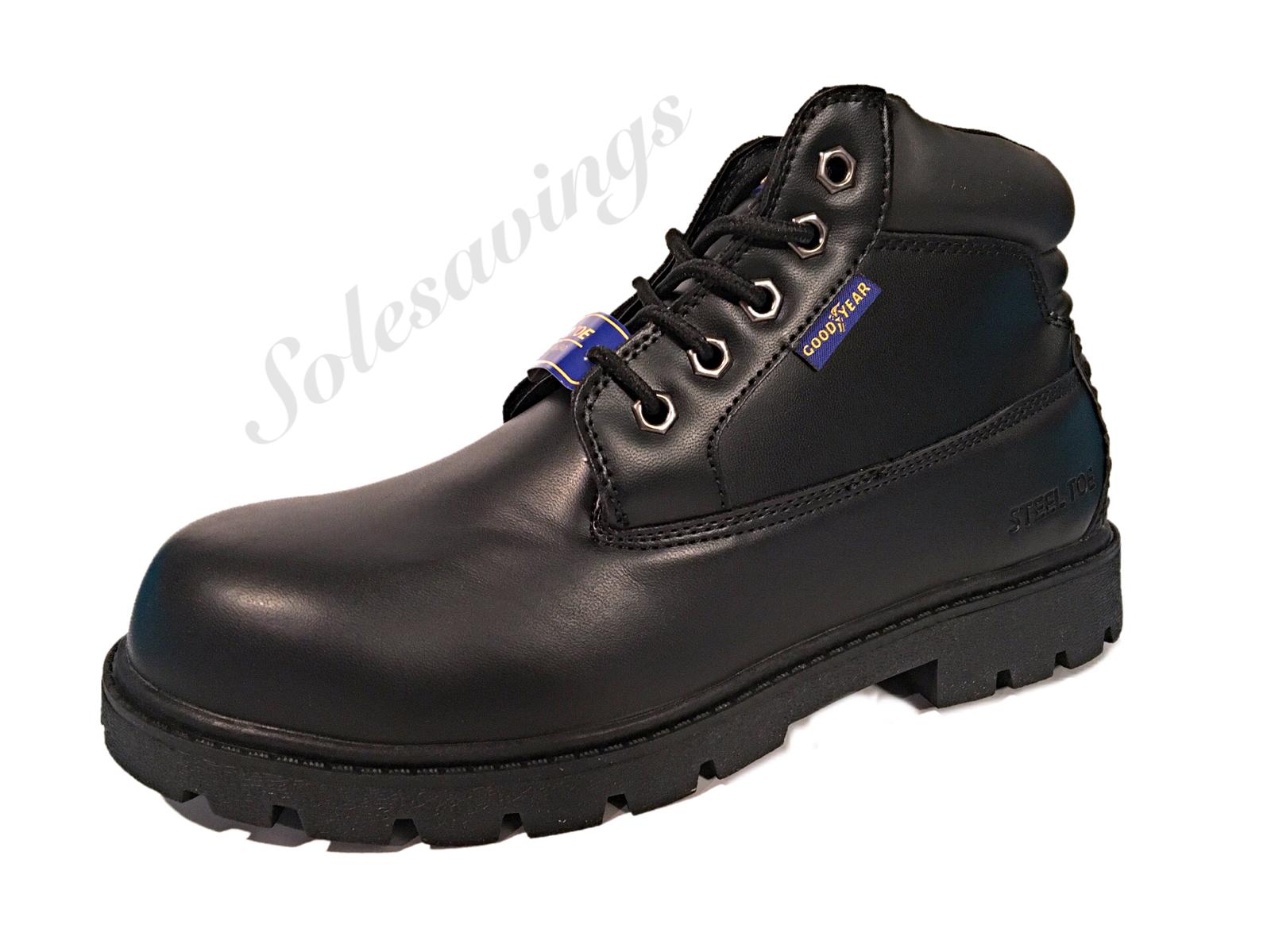 Mens Goodyear Mason ST Black Skid Resistant Steel Toe Water Resistant Work Boot