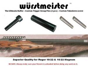 CUSTOM-BUFFER-TRIGGER-GROUP-PINS-TAKEDOWN-SCREW-FOR-RUGER-10-22-set-of-2