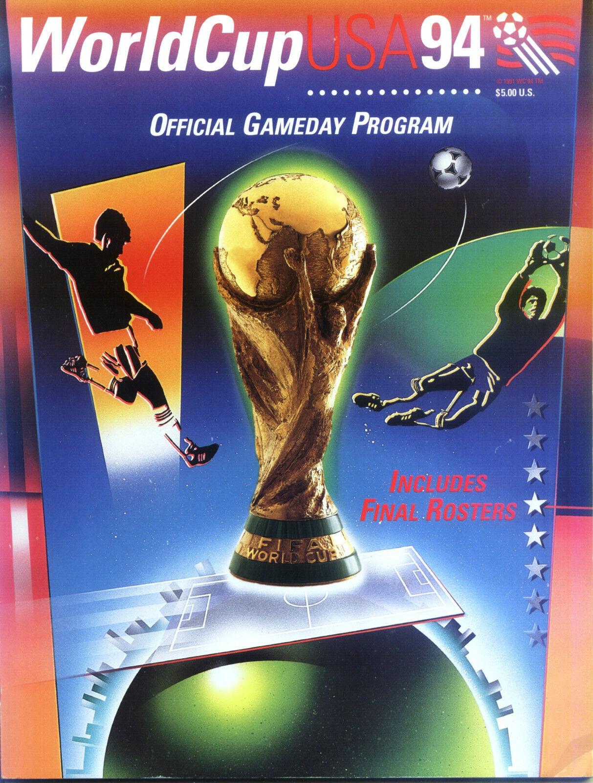 WM 1994 Gameday - World Championship USA - Official Gameday 1994 Programme - Washington 1667ea