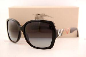 fc79b9cdd56 Brand New Burberry Sunglasses BE 4160 3433 8G Black For Women 100 ...