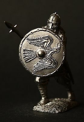 Hirdman: Viking with Spear Tin Toy soldier 54 mm, figurine,metal sculpture.