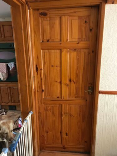 "Good Quality Nicely Aged Golden Pine 6 Panel Internal Doors 30/"" X 77/"""