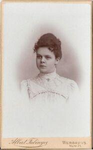 CDV-photo-Damenportrait-Werdau-um-1900