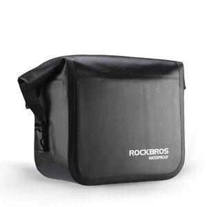 ROCKBROS-Bike-Handlebar-Bag-Waterproof-Front-Bag-Bicycle-Cycling-Panniers-Black