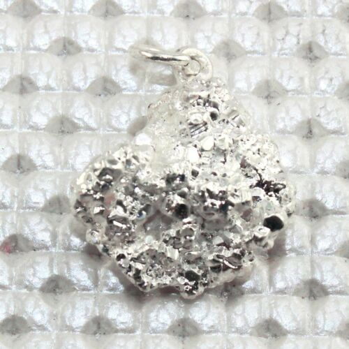Charms Natural Silver Pyrite Silver Plated Pendant Necklace Gemstone Jewelry