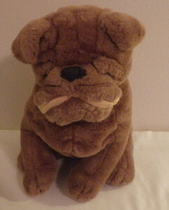 Brown Bulldog Puppy Dog Steven Smith 14 Tall Plush Stuffed Animal