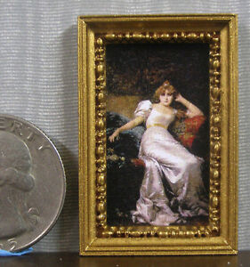 HALF  SCALE ~    FRAMED  PICTURE ~ Dollhouse ~ 1//24  or 1:12 scale ~ Room Box