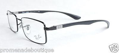 RAY BAN 6286 EYEGLASSES RX6286 EYE GLASSES OPTICAL FRAME 2509 Black w/ Case