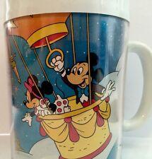 DISNEY THERMO SERV PLASTIC MUG CUP MICKEY WALT WORLD COFFEE TEA INSULATED