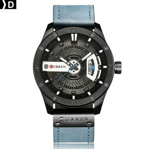 CURREN-8301-Men-Sports-Watches-Quartz-Casual-Leather-Wrist-Watch-D