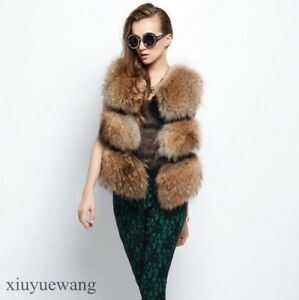 Womens-Sleeveless-Faux-Fur-Waistcoat-Clothing-Gilet-Short-Winter-Warm-Vests-Size