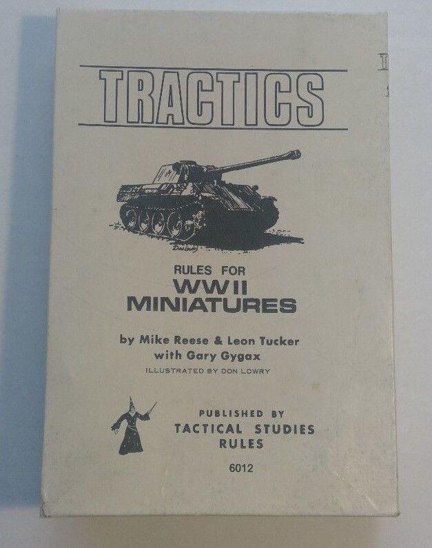 alta calidad TSR tractics tractics tractics Junta Juego De Guerra 1975 reglas para la segunda guerra mundial  6012 miniaturas militares sin usar  ahorra 50% -75% de descuento