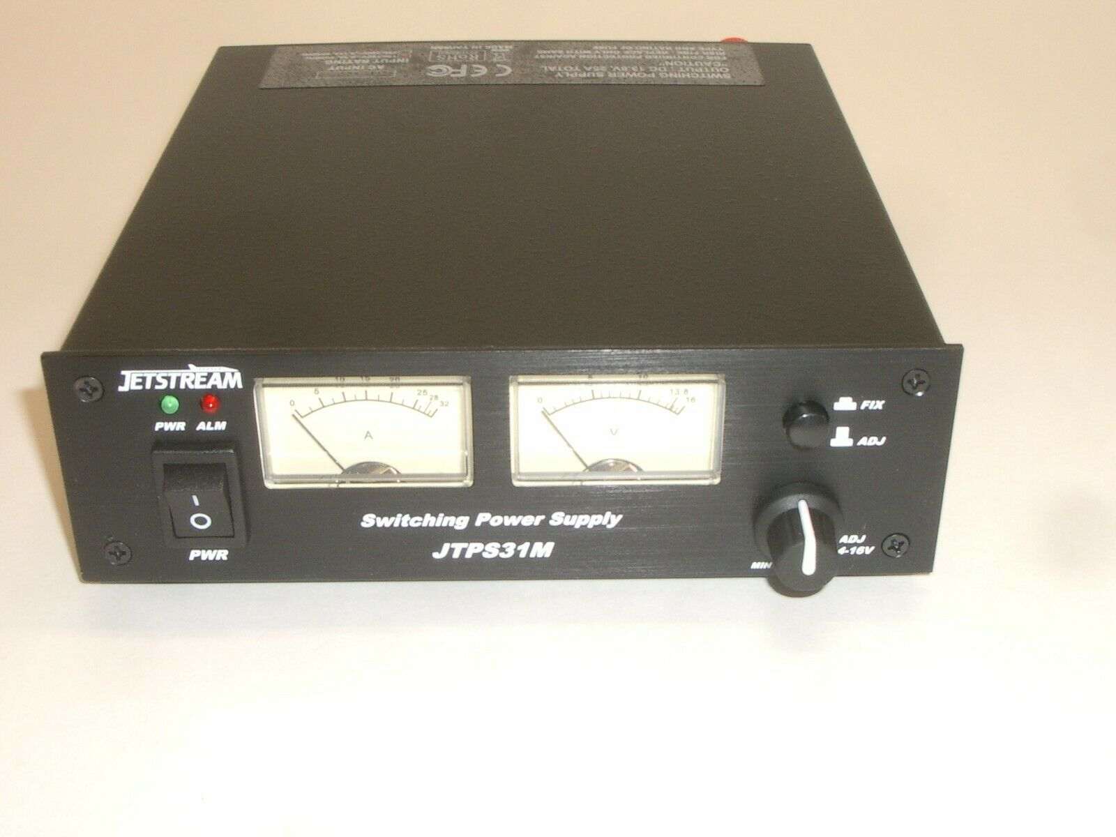 JETSTREAM JTPS31MB2 13.8VDC 25 AMP SWITCHING DC POWER SUPPLY w/ DUAL METER. Available Now for 129.95