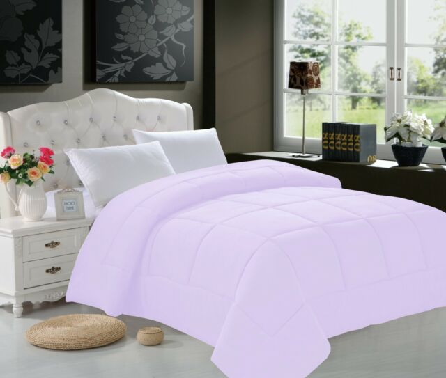 Goose Down Alternative Luxurious  Comforter Solid Black, Burgundy,White