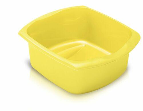 Addis Large Rectangular Washing Up Bowl 38X32cm Grip Sides Yellow Home Clean UK