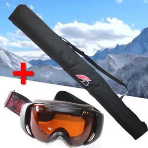 F2-Skitasche-fuer-1-Paar-Skier-Alpin-190-cm-Skibrille-F2-orange-getoent-yx277