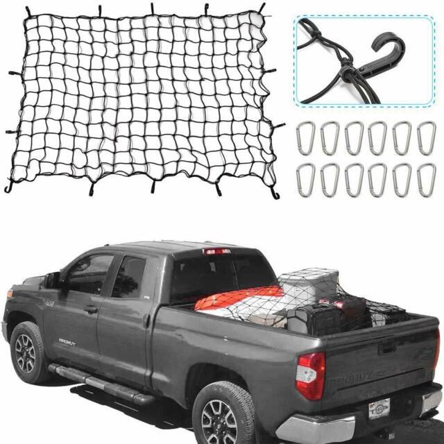 Truck Bed Cargo Net >> Heavy Duty 4 X 6 Elastic Bungee Cargo Net Metal Hooks Tie Down Pick Up Bed