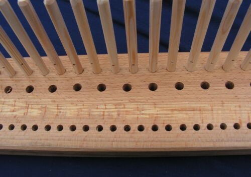1200mm crafted from Yorkshire hardwood Beech Peg Loom 3 rows 4/' 3 gauge