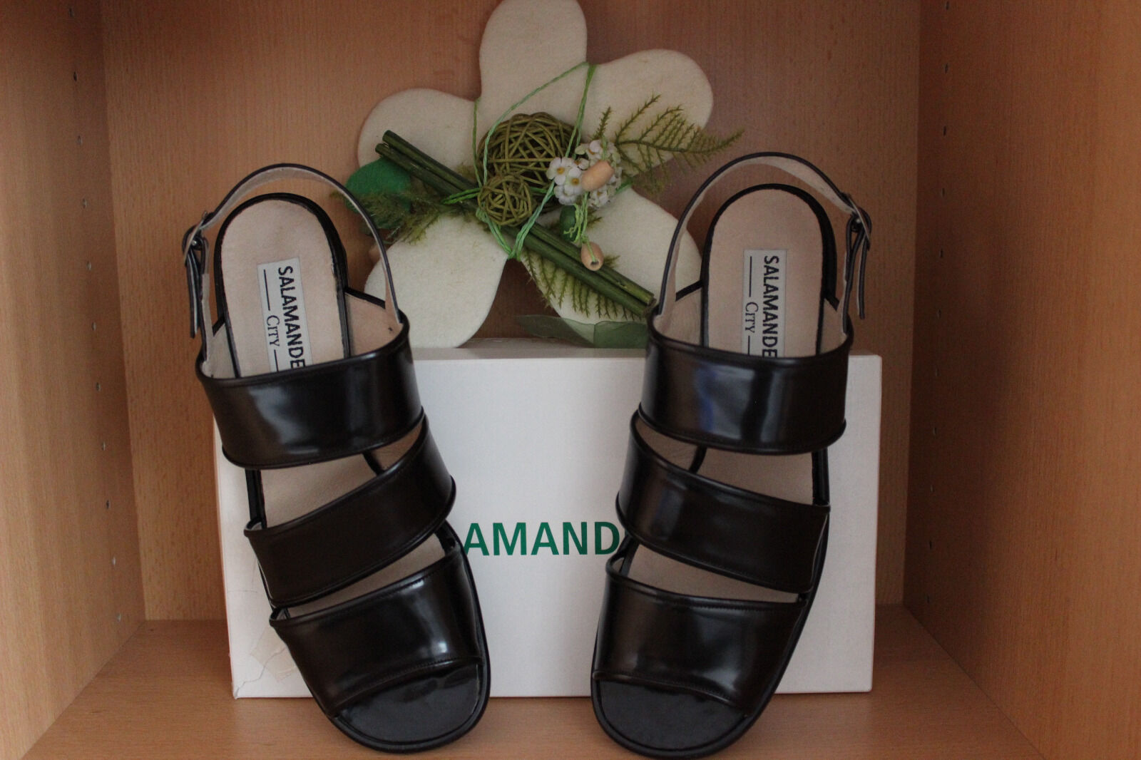 *Salamander* Damen Sandaletten 6,5 *NEU* Leder Sandalen Sandalette 6,5 Sandaletten /40 braun 362ce9