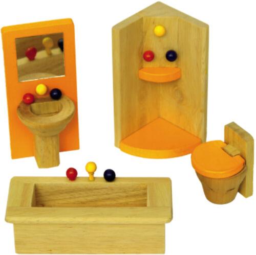 """Arredamento in  legno per casa delle bambole /""""Il bagno/"""""""
