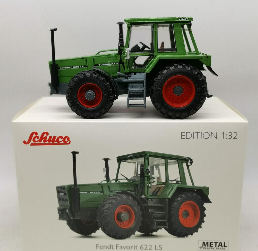1 32 Schuco Fendt Favorit 622 LS Die Cast Grün Tractor Car Model Rare 450781300