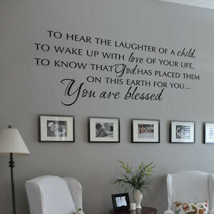 Bible Verse Wall Decal You Are Blessed Family Love Life