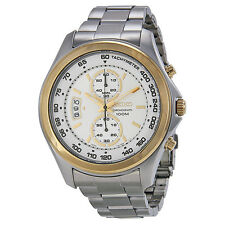 Seiko Chronograph Silver Dial Stainless Steel Mens Watch SNN256
