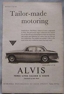 1959-Alvis-3-litre-Saloon-amp-Drop-head-Coupe-Original-advert-No-2