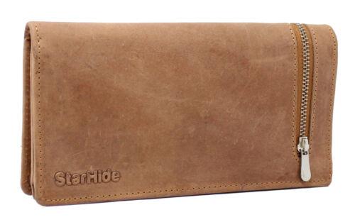 Nouveau starhide RFID Bloquant réel effet vieilli cuir sac à main portefeuille femmes cadeau 5565
