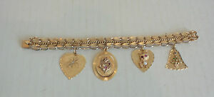 Vintage gold charms k